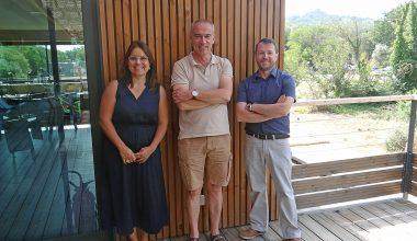 Bruno Buisson, Emilie Royere and Emmanuel Le Bouder at Neuroservice